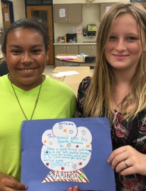 Students make awards to highlight each other's strengths.
